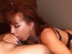 Redhead MILF gets a rough anal smart