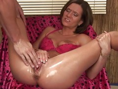 fucked and fisted oiled ass strumpet