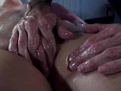french babe oiled and ass fucked