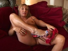 Horny older slut playing all over herself