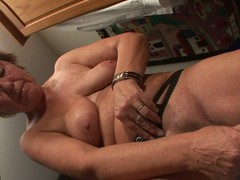 Pierced housewife playing with mortal physically