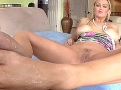 Dexterous increased by awesome babe likes to do footjob to say no to bastard