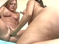 Grotesque Rachel Starr with broad in the beam toy is satisfying her chick