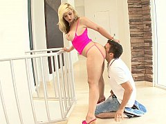 Sarah Vandella giving fan