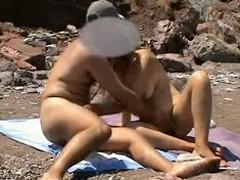 Horny Beach Voyeur Couple...