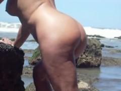 Adult floozy banged on the beach