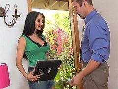 My big-breasted neighbor Ava