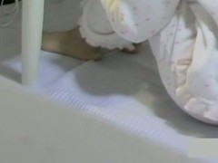 Spy cam coitus coupling up Asian wanting in her pajama fretting cunt