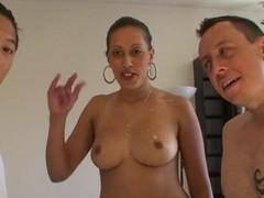 Amateur Arabic milf with chunky boobs fucks involving a 3some