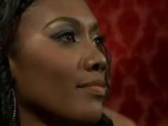 Ebony domina fucks her soft-pedal and gets nailed hard