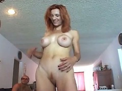 Mammoth boobs red haired momma troop bang fun