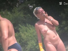 Sexy milf blonde hidden lakeshore voyeur video
