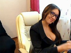 Czech Transcriber fingers in nylons