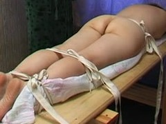 Fat contraband spoil gets some serious buttocks caning