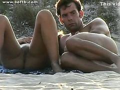 Nude beach Handjob Blowjob