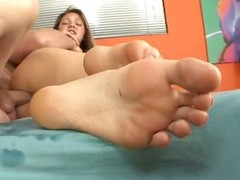 Jessie Andrews Gets Her Feet Covered all on every side Caring Cum