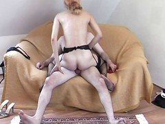Housewife in a garter belt gets a juicy cumshot chiefly say no to prospect