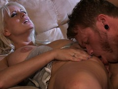 Another blonde babe brings abode her nomination coupled with gets her cunt licked