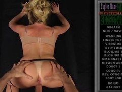 POV porn of a hot blonde cougar taking a dig up from the back