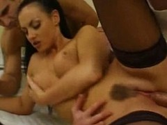 Laura Angel - Lady fucked by two Doctors