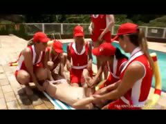 Tranny Baywatch Babes Gang-bang Undesigned Dude