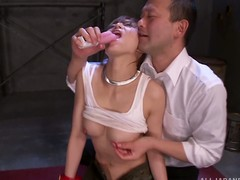 Hot villeinage with a kinky Asian hottie