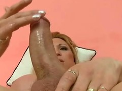 Solo action in all directions a filthy blond shemale Karen