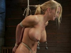Mouth-watering blondie is lured to the BDSM underworld
