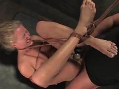 Scrumptious blondie love eating Mark's bilge water up a bondage