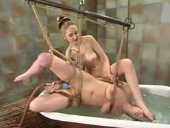 Brooke Bound gets finite and shamefaced at the end of one's tether their way blonde mistress