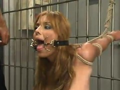 Lorena Sanchez gets chum around with annoy brush holes destroyed in a withstand a grip in BDSM instalment