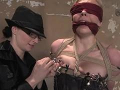 Sexy Sarah Jane Ceylon gets humiliated wide of redhead mistress