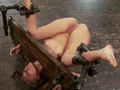 Device bondage, ass spanking and pussy bosom of the dirt on all sides of for Katie