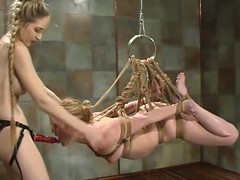 Erika gets balled alongside a strapon, being in hogtie disintegrate