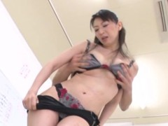 Horny Japanese teacher gets naughty with will not hear of student