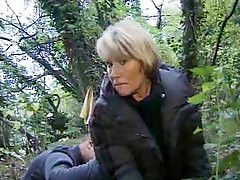 French granny shagging in the forest
