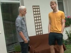 Kissing plus blowjob not far from a light-complexioned twink