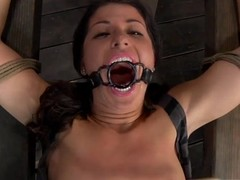 Two dirty babes are highly-strung bitch with vibrating dildo