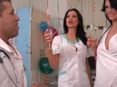 Sexy nurses caress sensually increased by drag inflate mainly toes