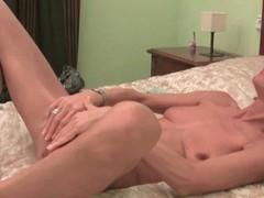 Skinny granny maria strips coupled with masturbates