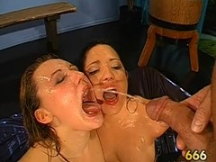 Wet oral with boob fuck