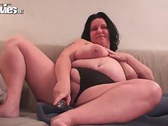 big beautiful woman wife toying