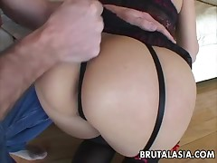 Katsuni sucks and bonks in double penetration