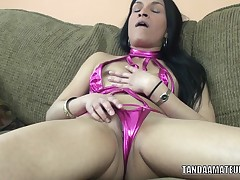Exotic mother I'd like to fuck Naomi Shah is playing with her pleasing muff
