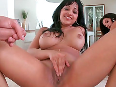 Amy and Bella Reese having great forusome with two hunks